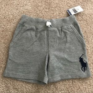 Polo ralph lauren 3t big pony casual shorts grey